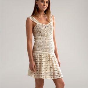 Vince. Crochet Drop Waist Dress